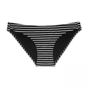 NWT Xhilaration Striped Bikini Bottom Small Black